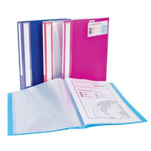 Snopake Lite (A4) Durable Polyprop Display Books (Assorted Colours) / Pack of 12