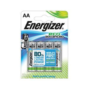 Energizer EcoAdvanced (AA) Alkaline Batteries
