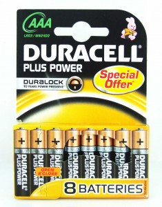 AAA Duracell Plus Batteries