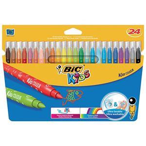 Bic Kids Kid Couleur Medium Tip Ultra Washable Water-based Felt Tip Pen Assorted