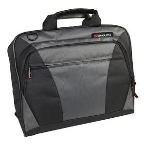 Monolith Nylon Laptop Messenger Bag (Black/Grey)