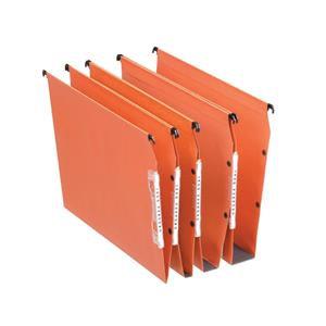 Esselte Orgarex Lateral File Kraft 220g/m2 Square-base 50mm Capacity Orange