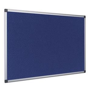 Bi-Office Maya (1500 x 1200mm) Felt Notice Board Aluminium Frame Blue