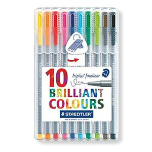 Staedtler Triplus Fineliner Superfine Point Pens Assorted Colours