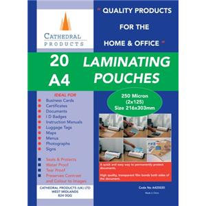 Cathedral (A4) Laminating Pouch 250 Microns