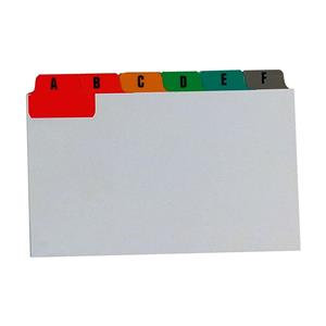 Concord Guide Cards Reinforced A-Z White with Tabs Multicoloured