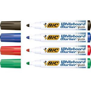 Bic Velleda 1701 Bullet Tip Whiteboard Marker Line Width 1.5mm Assorted Colours