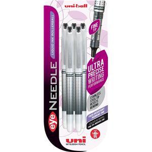 Uni-Ball Eye Needle UB-187S Extra Fine Rollerball Pen L-0.4mm T-0.5mm / Black
