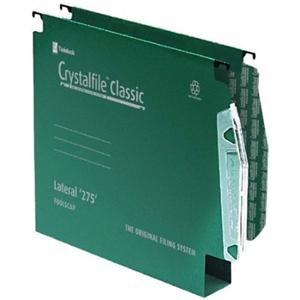 Rexel Crystalfile Classic Manilla Lateral 275 File 30mm (Green)