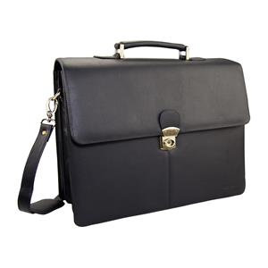 Monolith Luxury Leather Briefcase (Black)