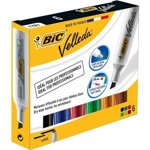 Bic Velleda 1781 Chisel Tip Whiteboard Marker Assorted Colours