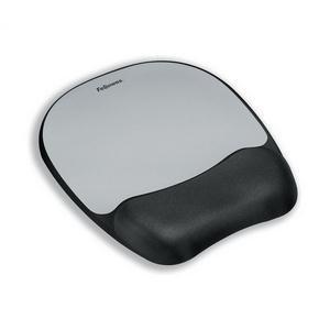 Fellowes Memory Foam Mouse Pad/Wrist Rest (Silver Streak)