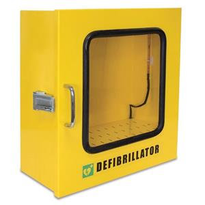 Heated Outdoor Metal Wall Cabinet for AED (Yellow)
