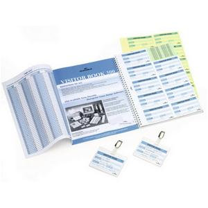 Durable Refill Visitor Book with 300 Complete Badge Inserts