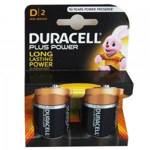 D Duracell Plus Batteries