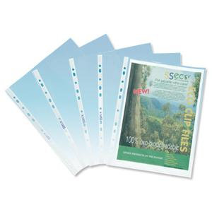 Seco Oxo-biodegradable (A4) Polyprop Punched Clear Multipunched / 100 Pockets