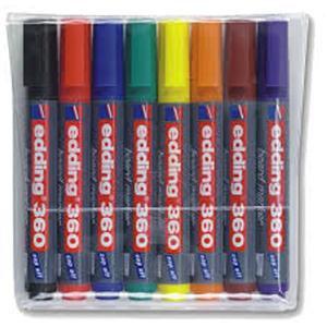 Edding 360/8S Whiteboard Marker Bullet Tip 1.5-3mm Line Assorted Colour
