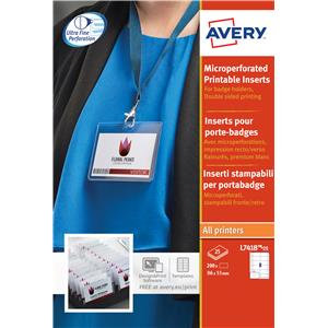 Avery Laser Name Badge Labels (White)