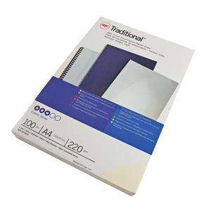 GBC (A4) Comb Binding Covers 220g/m2 Optimal Matt Silk (White)