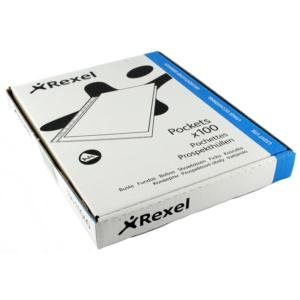 Rexel Superfine (A4) Top Opening Embossed Pockets (Clear) / 100 Pockets
