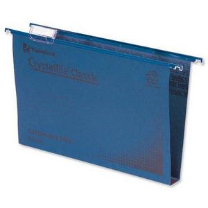 Rexel Crystalfile Classic (Foolscap) Suspension File Manilla 30mm (Blue)