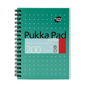 Pukka Pad Jotta Notebook Wirebound Perforated Ruled 200pp 80gsm A6