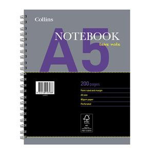 Collins Essential (A5) Twin Wiro Notebook 200 Pages 80gsm