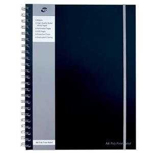 Pukka Pad A4 Poly Jotta Notebook Black