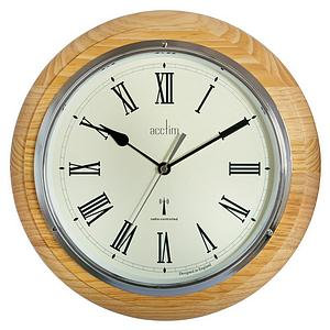 Acctim Durham 32cm Radio Controlled Wall Clock (Natural Oak)