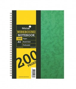 Silvine (A5) Notebook Twin Wire Sidebound Hardcover Perforated Ruled 192