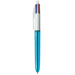 Bic 4 Colours Shine Medium Retractable Ballpoint Pen 1.0mm Tip Width 0.32mm Line