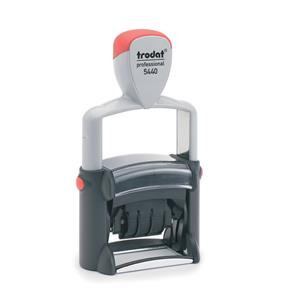 Trodat Professional 5440/L Text Dater Stamp (Text = Blue ? Date = Red)