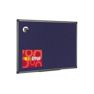 Bi-Office Felt Board 1800x1200mm Blue Aluminium Frame