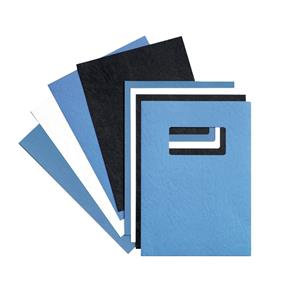 GBC (A4) Binding Covers Leatherboard Window 250g/m2 / Pack of 50
