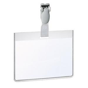 Durable (60x90mm) PVC Security Name Badge with Clip (Landscape)