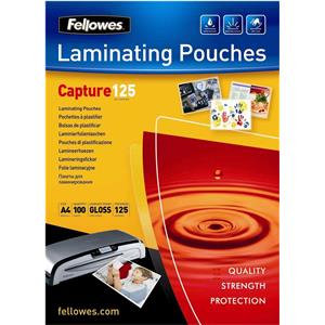 Fellowes (A4) 125 Micron Glossy Laminating Pouches