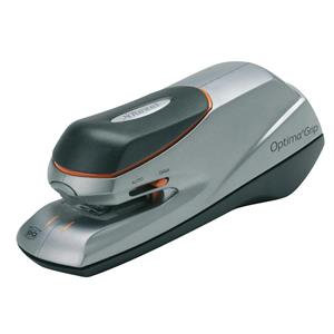 Rexel Optima Grip Electric Stapler (Silver/Black)