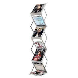 Fast Paper (A4) Foldable Display System 6 Compartments (Silver)