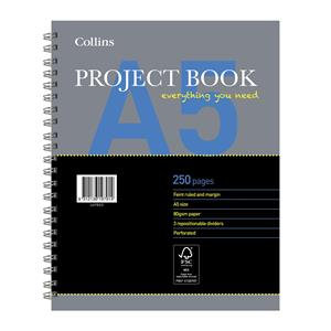 Collins Essential (A5) Project Book 250 Pages 80gsm Ruled and Margin