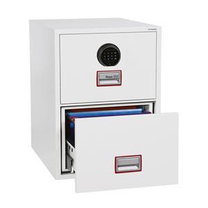 Phoenix World Class Vertical Fire File 2 Drawer Filing Cabinet with Fingerprint