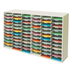 Fellowes (A4) Literature Sorter Melamine-laminated Shell with 72 Compartments
