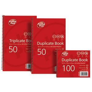 Pukka Pads (210 x 130mm) Triplicate Book Plain Ruled (White)