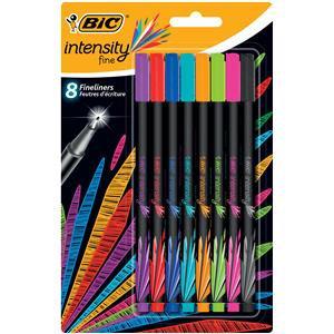 Bic Intensity Fineliner Felt Pen Assorted Colours