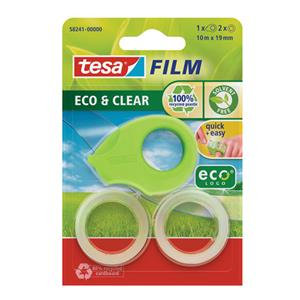 Tesafilm Eco and Clear Mini Tape Dispenser EcoLogo with 2 Rolls of (19mm x 10mm)