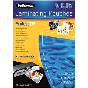 Fellowes (A4) 175 Micron Glossy Lamination Pouches