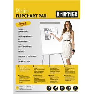 Bi-Office (A1) Flipchart Pad 60gsm Perforated 40 Sheets White