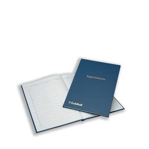 Guildhall (298 x 203mm) Appointments Book 104 Pages Blue