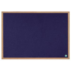 Bi-Silque Earth-It Environmentally Friendly Notice Board Felt Surface Blue