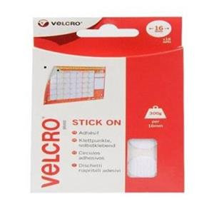 Velcro Brand Stick On Coins (16mm) White