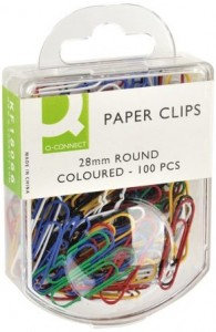 Q-Connect Paperclips 28mm Assorted